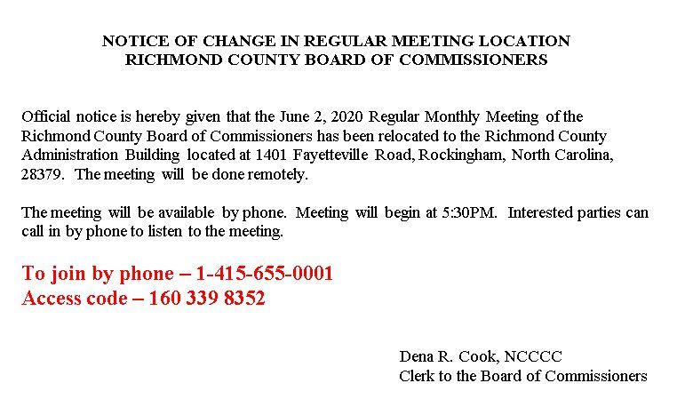 June 2 Board of Commissioners Meeting